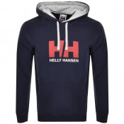 Product Image for Helly Hansen Logo Hoodie Navy