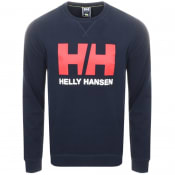 Product Image for Helly Hansen Logo Crew Neck Sweatshirt Navy