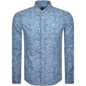 Product Image for Pretty Green Long Sleeved Slim Paisley Shirt Blue