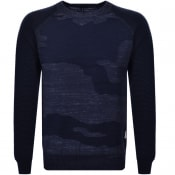 Product Image for G Star Raw Desert Camo Knit Jumper Blue