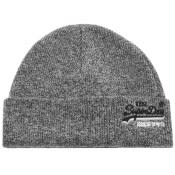 Product Image for Superdry Orange Label Beanie Hat Grey