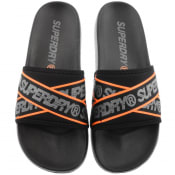 Product Image for Superdry City Beach Logo Sliders Black