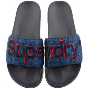 Product Image for Superdry Classic Logo Sliders Navy