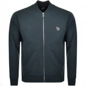 Product Image for PS By Paul Smith Full Zip Bomber Sweatshirt Teal