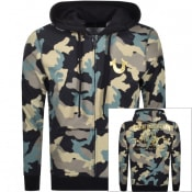 Product Image for True Religion Full Zip Camouflage Hoodie Black
