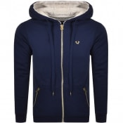 Product Image for True Religion Full Zip Fleece Hoodie Navy