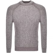 Product Image for Luke 1977 Plated Knit Jumper Burgundy