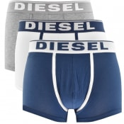Product Image for Diesel Underwear Damien 3 Pack Boxer Shorts Navy