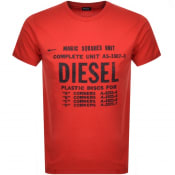 Product Image for Diesel T Diego Short Sleeved T Shirt Red