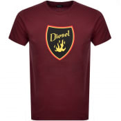 Product Image for Diesel T Diego Short Sleeved T Shirt Burgundy