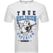 Product Image for True Religion Crew Neck Buddha Logo T Shirt White
