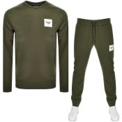 Product Image for Emporio Armani Crew Neck Tracksuit Green