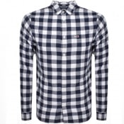 Product Image for Tommy Jeans Long Sleeved Check Shirt White