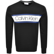 Product Image for Calvin Klein Stripe Logo Sweatshirt Black