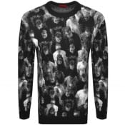 Product Image for HUGO Speople Knit Jumper Black
