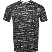 Product Image for Armani Exchange Crew Neck Logo T Shirt Black
