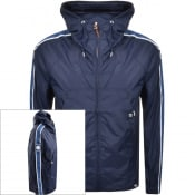 Product Image for Pretty Green Harrington Hooded Jacket Navy