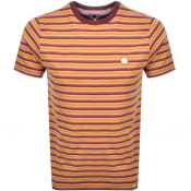 Product Image for Pretty Green Gordon Feeder Stripe T Shirt Orange