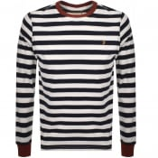 Product Image for Farah Vintage Long Sleeved Stripe T Shirt White