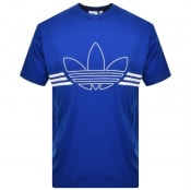 Product Image for adidas Originals Trefoil Outline T Shirt Blue