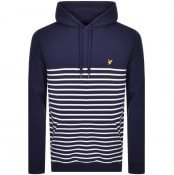 Product Image for Lyle And Scott Stripe Pullover Hoodie Navy