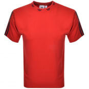 Product Image for adidas Originals Trefoil Rib T Shirt Red