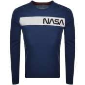 Product Image for Alpha Industries Long Sleeved NASA T Shirt Navy