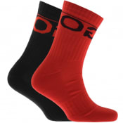 Product Image for HUGO Logo Sport Socks Double Pack Red