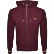 Product Image for Fred Perry Full Zip Hoodie Burgundy