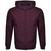 Product Image for Fred Perry Tipped Hooded Jacket Bugundy