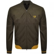 Product Image for Fred Perry Twill Bomber Jacket Green