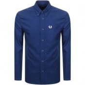 Product Image for Fred Perry Long Sleeved Oxford Shirt Blue