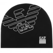 Product Image for EA7 Emporio Armani Eagle Beanie Hat Black