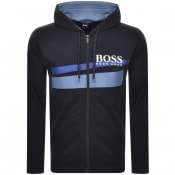 Product Image for BOSS Bodywear Full Zip Hoodie Navy
