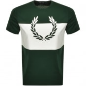 Product Image for Fred Perry Printed Wreath Logo T Shirt Green