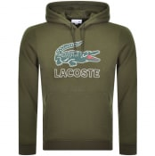 Product Image for Lacoste Pullover Logo Hoodie Green