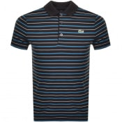 Product Image for Lacoste Sport Stripe Polo T Shirt Black