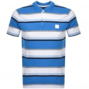 Product Image for BOSS Casual PBlock Stripe Polo T Shirt Blue