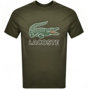 Product Image for Lacoste Crew Neck Logo T Shirt Green