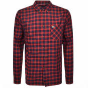Product Image for Lacoste Long Sleeved Checked Shirt Red