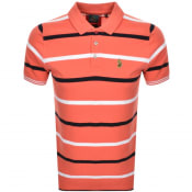 Product Image for Luke 1977 Stripe New Mead Polo T Shirt Red