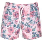 Product Image for Jack Wills Blakeshall Floral Swim Shorts Pink