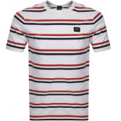 Product Image for Paul And Shark Striped Logo T Shirt White