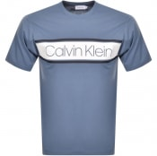 Product Image for Calvin Klein Text Strip Logo T Shirt Blue
