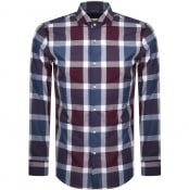 Product Image for BOSS HUGO BOSS Long Sleeveed Jason Shirt Burgundy