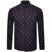 Product Image for Versace Collection Long Sleeved Shirt Navy