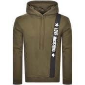 Product Image for Love Moschino Logo Hoodie Green