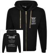 Product Image for Versace Jeans Couture Full Zip label Hoodie Black