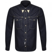 Product Image for Versace Jeans Couture Long Sleeved Shirt Navy