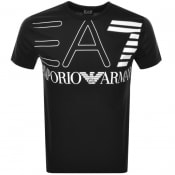 Product Image for EA7 Emporio Armani Crew Neck Logo T Shirt Black